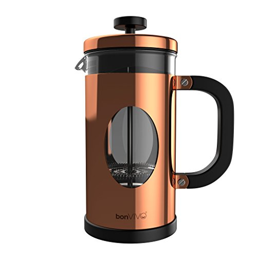bonVIVO GAZETARO I Design French Press Made Of Stainless Steel And Glass In Copper Finish