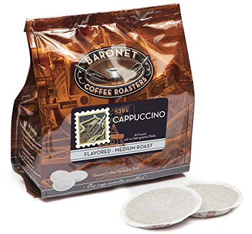 Baronet Coffee Cappuccino Coffee Pods, 54 Count