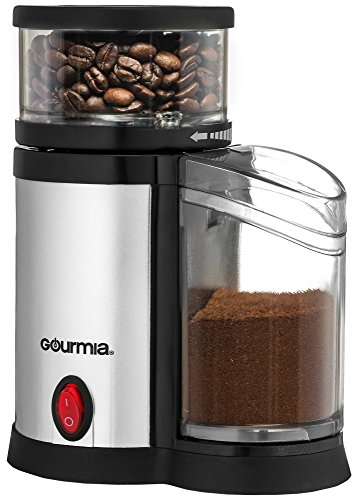 Gourmia GCG165 Compact Electric Burr Coffee Grinder – Adjustable Fine To Coarse Grind Size